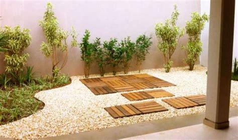 jardim decorado pedras e grama jardins pequenos 55 fotos