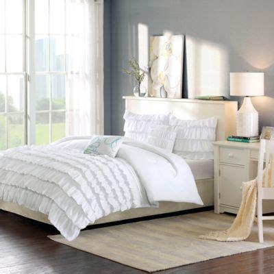 full white comforter buy white ruffle comforter from bed bath beyond