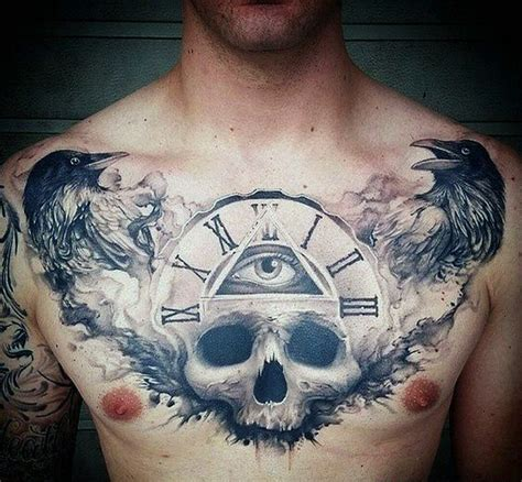 70 cool chest tattoos for men masculine ink design ideas