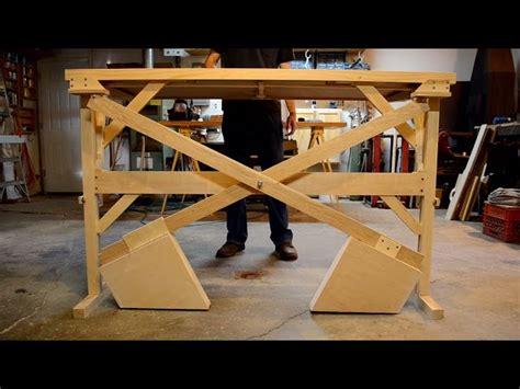Diy Sit Stand Desk Diy Mechanical Standing Desk The Awesomer