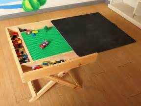 lego storage play table folding custom made wooden