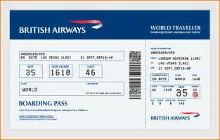 Boarding Ticket Template by 27 Best Airline Boarding Pass Ticket Template Exles