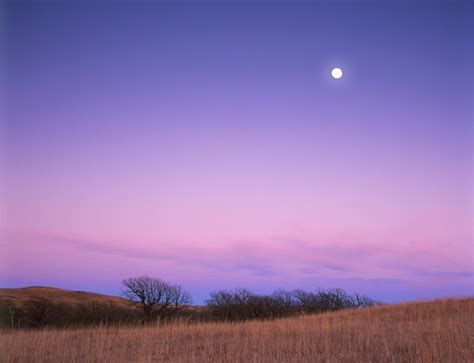 A Prairie Moon photograph entitled moon winter prairie