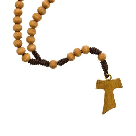 tau cross tattoo franciscan tau cross wooden rosary the catholic company