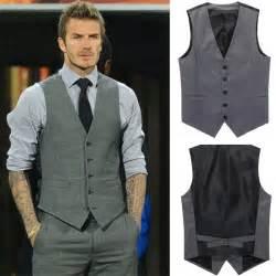 Men s vest jacket fashion beckham slim vest 2014 new man casual