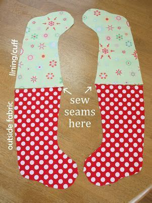 free pattern for christmas stocking with cuff christmas stockings sewing tutorials and tutorials on