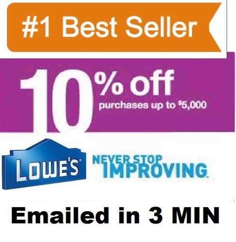 Lowes 10 Printable Coupon