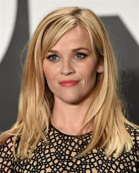 hairstyles with bangs reese witherspoon pictures of chopped layers with bangs for medium length
