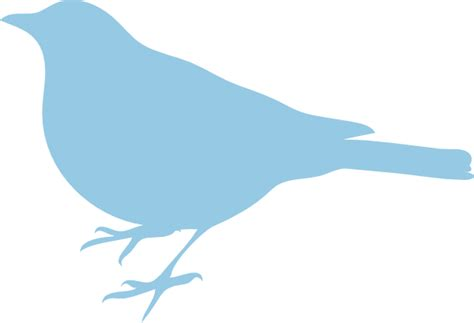 blue bird template soft blue bird silhouette clip at clker vector