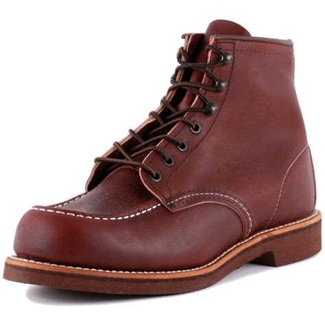oxblood mens boots wing moc toe 200 collection 00213 0 mens laced leather