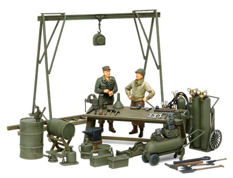 1 35 German Field Maintenance Team Tamiya Model Kit Mokit 1 35 wwii u s field maintenance yard w 2 figures