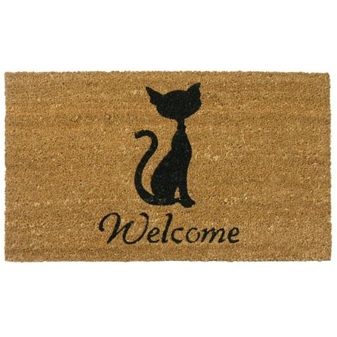 Cat Doormats by Rubber Cal Meow Cat 18 In X 30 In Welcome Mat 10 106 064