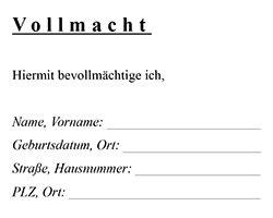 Vorlage Word Vollmacht Allgemeine Vollmacht Kostenloser Vordruck