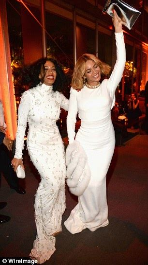 beyonce and solange party at the vanity fair oscars party daily mail online