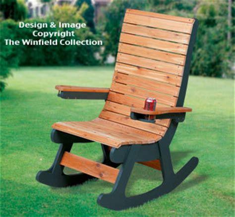 cedar rocking chair plans all yard garden projects cedar rocker woodworking pattern