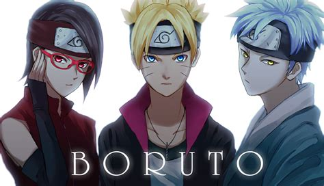 anime boruto sarada boruto and mitsuki wallpaper and background image