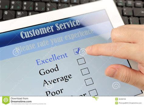 Online Survey Services - customer service online survey royalty free stock image image 30499106