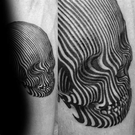 tattoo 3d lines 50 small unique tattoos for men cool compact design ideas