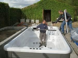 the barn spa in ground construction process swim spas tub barn