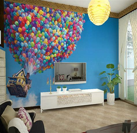 3d up balloon sky wall murals wallpaper decal decor home