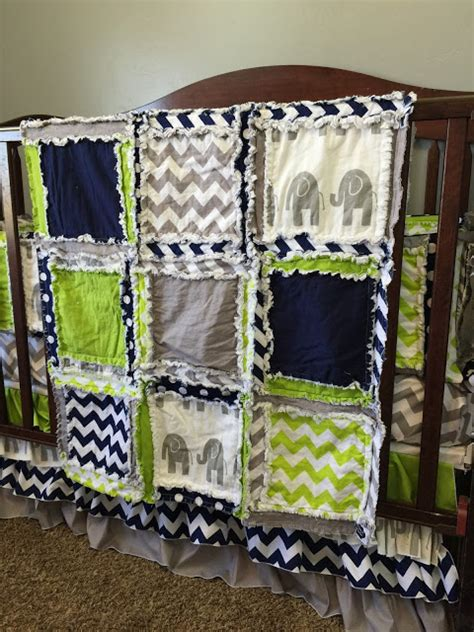 Green Elephant Crib Bedding Elephant Baby Bedding Lime Green Navy Blue And Gray By A Vision To Remember A Vision To
