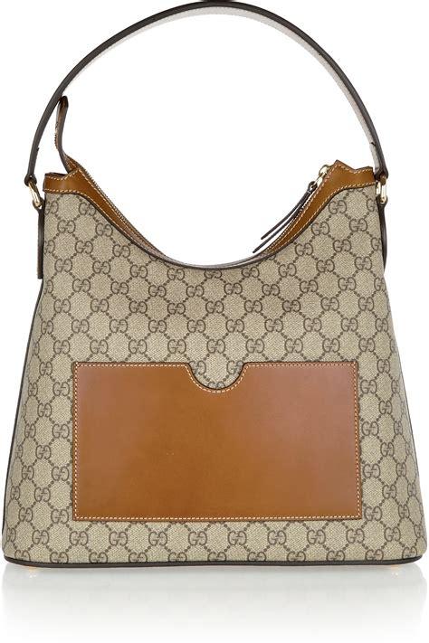 Bag Gucci Hobo Canvas 9102 Semprem gucci linea a hobo leather trimmed coated canvas shoulder bag in multicolor lyst