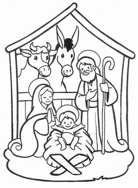 nativity coloring pages for toddlers nativity coloring pages coloring kids