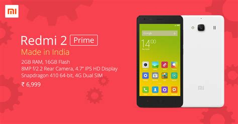 themes for mi 2 prime xiaomi redmi 2 prime unveiled in india for rs 6 999