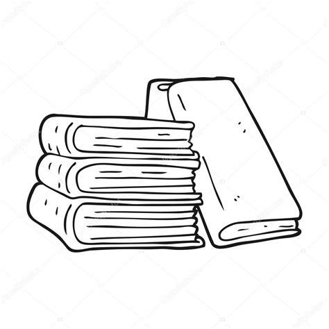 etiquetas para libros blanco negro imagenes y dibujos pila de libros de dibujos animados blanco y negro vector