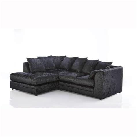 black velvet corner sofa ambrose fabric corner sofa in black velvet with
