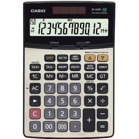 Casio Calculator Mj 12d casio dj 220d plus 莢蝓lem kontroll 252 vergi ve d 246 viz