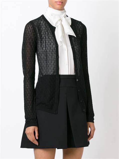 knit lace cardigan dolce gabbana lace knit cardigan in black lyst