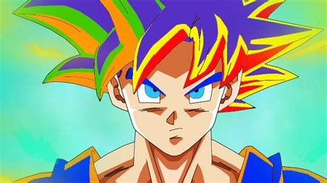 super colorful omfg super saiyan rainbow multi color god aura