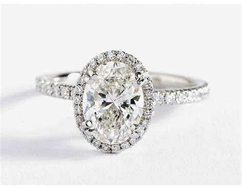 Oval Engagement Rings by Blue Nile Studio Oval Cut Heiress Halo Engagement