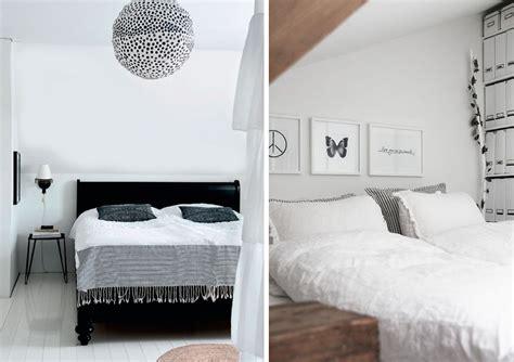 chambre en blanc une chambre en noir et blanc joli place
