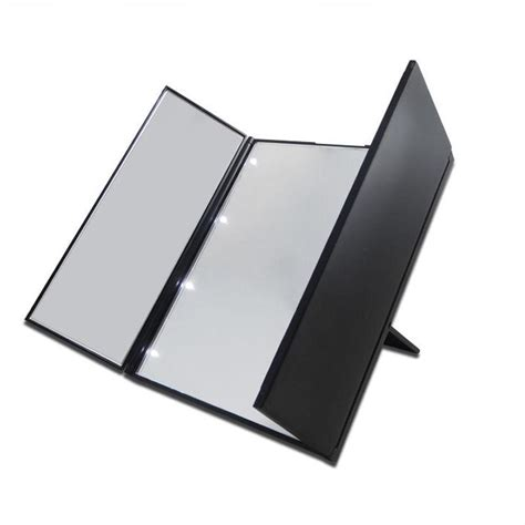 Vanity With Fold Up Mirror by Vanity Folding Travel Illuminated Make Up Dressing Desktop