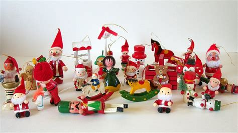28 vintage wooden ornaments wooden christmas ornament set