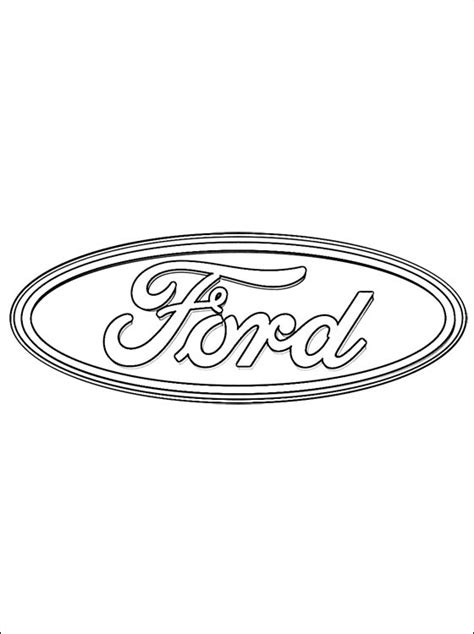 Page Ford Coloring Page Ford Logo Coloring Pages