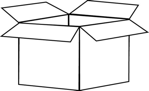 Box Outline Clip by Black And White Box Clip Black And White Box Image