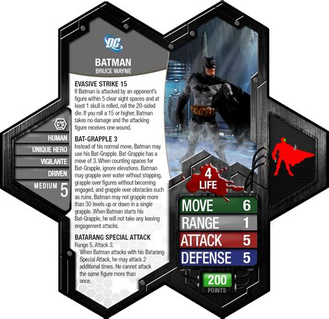 Heroclix Card Template by The Book Of Batman Bruce Wayne Heroscapers