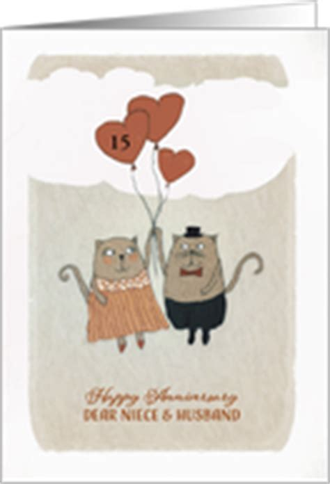 Wedding Anniversary Cards For Niece by Year Specific Wedding Anniversary Cards For Niece