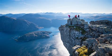 fjord depth hiking to mount hornelen official travel guide to norway