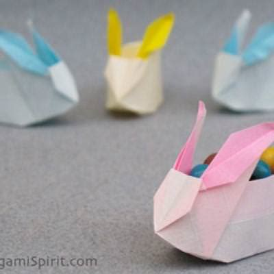 Easy Origami Easter Bunny - origami easter bunny easter activities tip junkie