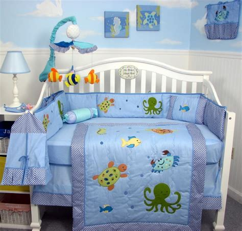 Sears Baby Crib Bedding Sets Soho Designs Sea Baby Crib Nursery Bedding Set 14 Pcs Included Bag With Changing Pad