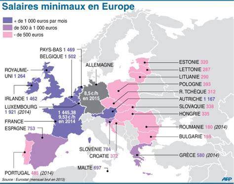 salaire minimum espagne 2016 ou en est on du salaire minimum en europe journal