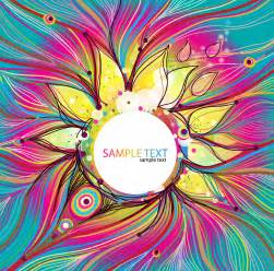 Colorful Designer by Abstract Colorful Floral Vector Background Free Vector