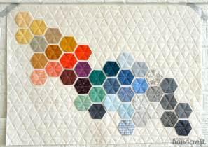 machine stitched hexagons modern handcraft