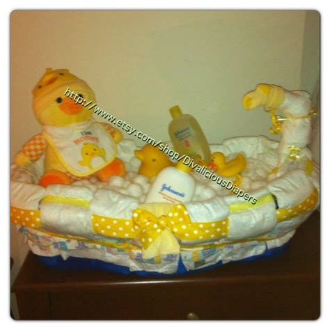 diaper cake bath tub baby shower gift by