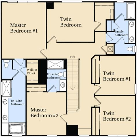 Upstairs Bedroom Layout Kissimmee Villa Floor Plan