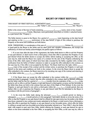 Editable Horse Sale Contract With First Right Of Refusal Fill Print Download Law Forms In Right Of Refusal Template Real Estate